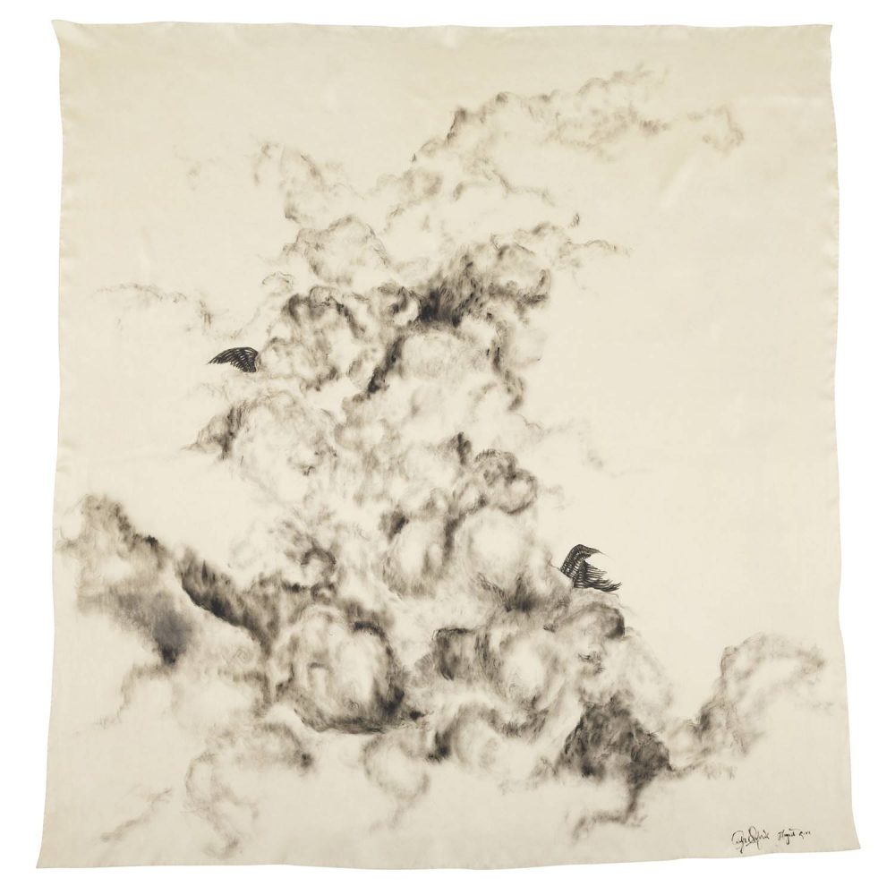 'The Storm' Silk Scarf by textile artist Lidija Seferovic